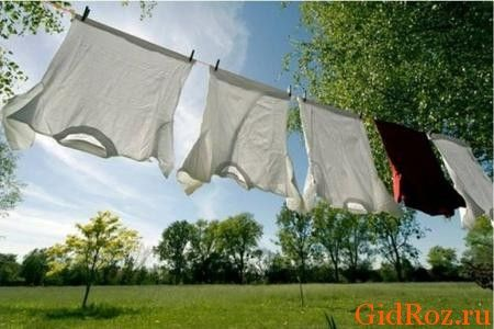 Вывесив одежду на улице, можно решить проблему с запахом!