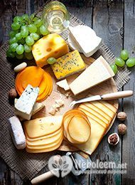 Калорийность сыра